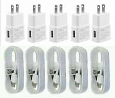 5X Wall Chargers Micro USB Cable+Adapter For Android Phones OEM Quality Cord