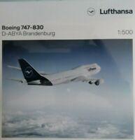 "Herpa Wings 1:500 531283 Lufthansa B747-830 D-ABYA ""Brandenburg"" Neuware"