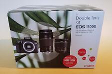 CANON EOS 1300D Kit DFIN III Objektiv 18-55 mm,75-300 mm Spiegelreflexkamera NEU