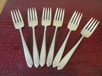Rogers & Bro EMPIRE Set of 6 Salad Forks Silverplate Flatware Lot C