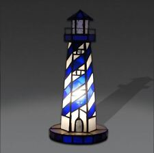 Faro abat jour lampada da comodino in vetro stile Tiffany