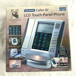 Innovage Phone Talking Caller ID LCD Touch-Panel Land Line Speaker 20+ Features