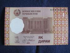 Tadjikistan - 1999 issue - 1 diram-universel