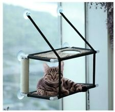 ZolooPet Cat Hammock Window Perch 2 Layers Holds 60 Lbs.