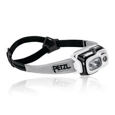 Petzl Unisex Swift RL Headlamp - Black White Sports Outdoors Lightweight
