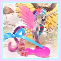 ❤️My Little Pony Brushable Water Cuties Princess Celestia Glitter Globe G4❤️