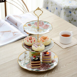 3-layer Cake Dessert Stand Fruit Plate Tea Party Candy Holder Rack Display Tray