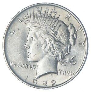 Choice AU/UNC 1922 Peace Silver Dollar - 90% Silver *971