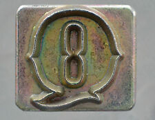"""Leather Tools Tandy  Craftool Alphabet Replacement 1/2 """" letter Q Stamp"""