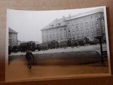 Military Photograph Vehicles at occupied German Base Caspari Kaserne 1946-50 v2
