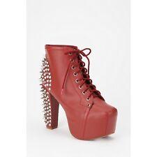 Jeffrey Campbell 6 Lita Spiked Brick Red Burgundy Platform Boots With Box EUC
