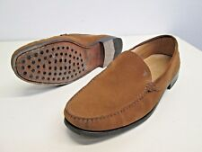 Tod's Driving moccasins loafers Leather Italy made sz 8.5 Gommini tan Brown EUC!