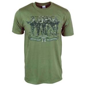 Mens Rescue Team Not Assassins Predator T Shirt Military Green NEW Dutch 80s