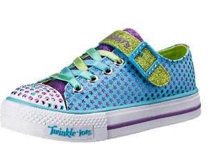 Skechers Kids Shuffles Mysticals Sneaker Turquoise/Purple 10510L Choose Size NIB