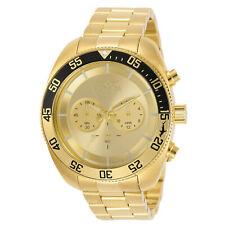Invicta Men's Watch Pro Diver Quartz Chronograph Yellow Gold Bracelet 30803