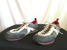 North Face Gray White Red Suede Sneakers Shoes Men Sz 8.5