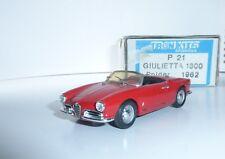 ALFA ROMEO Giulietta 1300 Spider red TRON 21 1:43 n bbr looksmart model fb gulp