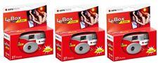 3x AgfaPhoto LeBox Flash 400 Asa Einwegkamera Hochzeit 27 Aufnahmen Blitz