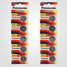 Panasonic CR2016 3V Lithium Battery 2PACK X (5PCS) =10 Single Use Batteries