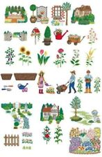 """Brother embroidery Card # 55 """"Garden designs"""""""