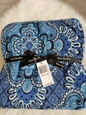 Vera Bradley Blue Tapestry Throw Blanket 80 x 50 New with Tags!!!