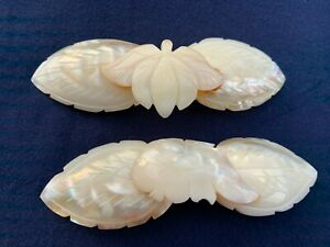 VINTAGE MOTHER OF PEARL BARRETTE HAIR ACCESSORY CLIP 2