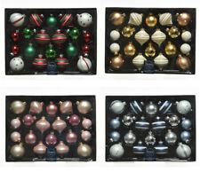 20 Weihnachtskugeln 4 - 6cm GLAS Set Christbaumkugeln Zwiebel Motiv Muster Deko