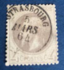 France N° 27 4 C Gris Oblitère Petit CAD Strasbourg. Superbe Nuance TTB