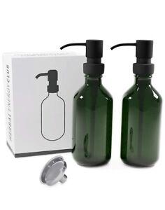 2 PACK Premium Soap Dispenser Refillable Pump w/Stainless Steel Funnel (500ml)