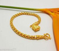 Chain 22K 23K 24K THAI BAHT YELLOW GOLD GP Bracelet Jewelry B99