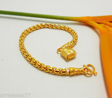 Chain 22K 23K 24K THAI BAHT YELLOW GOLD GP Bracelet Jewelry B99