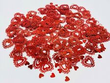 RED Romantic Love Heart Tabletop Confetti Scatter Decoration Wedding Party (E)