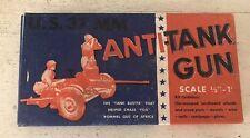 Vintage U.S. 37mm Anti Tank Gun Kit WW2 Miniature   Military Model Craft Hobby