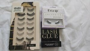 💕 New False eyelashes Set & Glue  💕