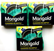 12 x Marigold Cleaning Me Softly Non Scratch Foam Back All Purpose Scourer New