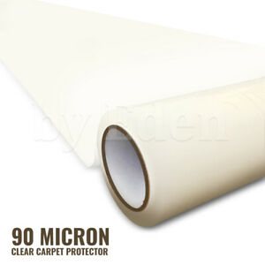 90 Micron Clear Carpet Protector Dust Cover Protect Sheet Film Self Adhesive 25m