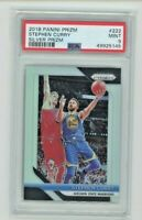 2018-19 Panini Prizm Silver Stephen Curry PSA 9 Mint Golden State Warriors #222