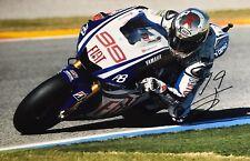 Jorge Lorenzo main signé YAMAHA 18x12 Photo MotoGP 1.
