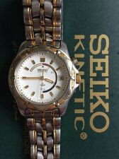 SEIKO Kinetic Quartz Ladies Watch - 3M22 SWP008 72hrs - two tone metal strap Box