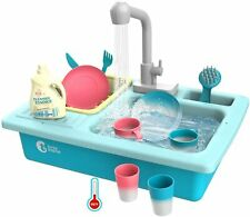 Cute Stone Color Changing Kitchen Sink Toys Heat Sensitive running water for kid