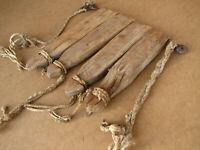 Old Antique Primitive Wooden Wood Treadles Pedals Weaving Loom Farmhouse 19th.