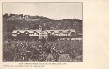 Graystone Wine Cellar, St. Helena, California Winery Napa County Postcard c1907
