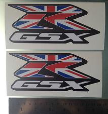 GSXR Union Jack UK Flag Decals / Stickers for Suzuki GSXR (160mm x 70mm)