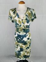 Ladies Dress Size 16 MODA Green Stretch Smart Day Party Summer