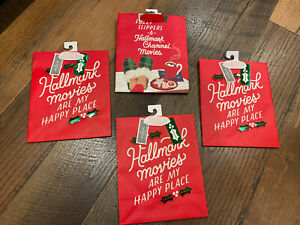 Hallmark Channel Christmas Movie Set of 4 Gift Bags ~ New