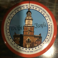 Valleybrook Farms Vtg 200th Anniversary Constitution USA Commemorative Tin Can