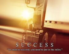 Semi Truck Driver Motivational Poster Art Print Truck Stop Vintage Parts MVP488