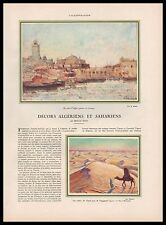 Doc.Ancien  Décors Algériens et Sahariens , Algérie Sahara Algeria 1930  - 1i