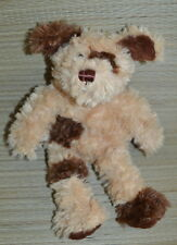 "Old Navy 10"" Plush Puppy Dog Brown & Tan Shaggy Patch EUC Lovey"