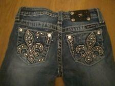 Cute Girls Miss Me Jeans Size 12! Rhinestone Pockets!
